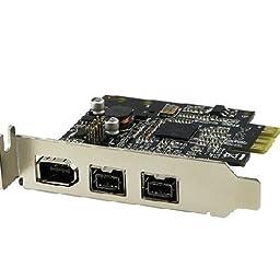 Syba Firewire 800 Mbps 1394B + 1394A Pci Express Pci-E Card 2.5Gbps Ohci