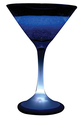 """Fortune Products Lg-6001-12 Crystalight Lighted Martini Glass, 5"""" Diameter X 7.25"""" Height, 8Oz Capacity (Pack Of 12) front-128315"""