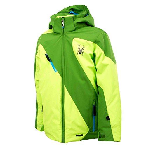 Spyder Boys Enforcer Jacket, 16, Mountain Top/Mantis Green/Electric Blue