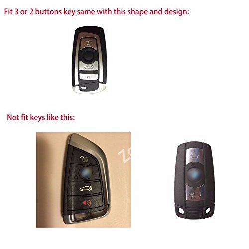 Luxury Real Leather Keyless Smart Entry Remote Key Case Cover Shell