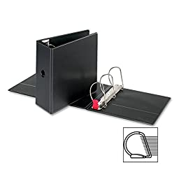 Sparco Slant-D Ring Binder, with Sheet Lifter, 5 Inches Cap, 11 x 8-1/2 Inches, BK (SPR26972)