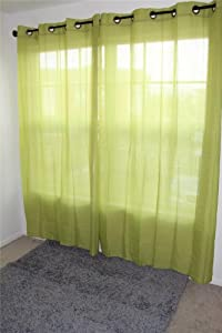 1 Piece Sheer Crushed Fabric Curtain Panel - Assorted Colors