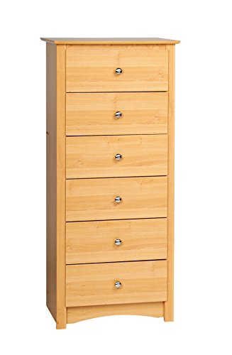 Prepac MDC-2354 Sonoma 6-Drawer Lingerie Chest (Maple)