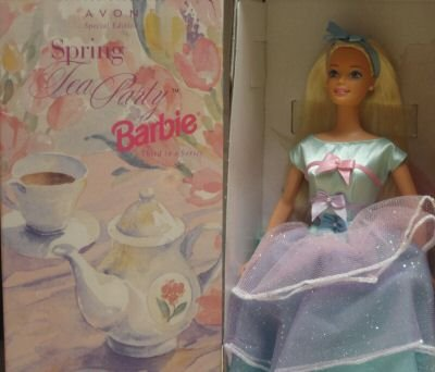 Special Edition Spring Tea Party Barbie, Blonde, Avon Exclusive - 1