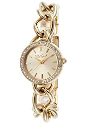 Caravelle New York by Bulova Women's 44L152 Analog Display Japanese Quartz Yellow Gold Watch