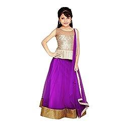 Najara Fashion fancy material traditional semi-stitched lahenga choli (njc005 3-4 yr)