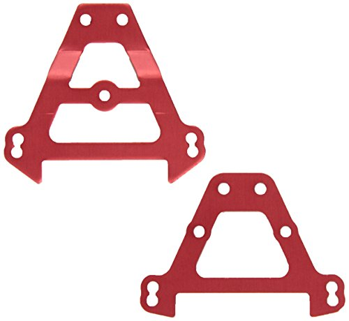 Traxxas 5323R Bulkhead Tie Bars Front and Rear, Red-Anodized Aluminum, Summit