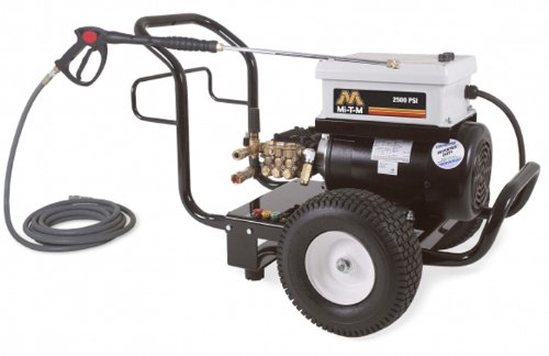Mi-T-M Jp-2503-0Me3 Jp Series Cold Water Electric Direct Drive, 6.0 Hp Motor, 230V, 15A, 2500 Psi Pressure Washer