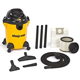 Shop-Vac 9650600 3.0-Peak HP Pro Series Wet or Dry Vacuum, 6-Gallon