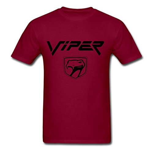 dodge-viper-logo-classic-t-shirt-for-man-burgundy-l