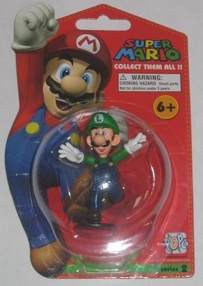 Super Mario Brothers Master Replicas 3 Inch PVC Figure Series 2 Luigi - 1