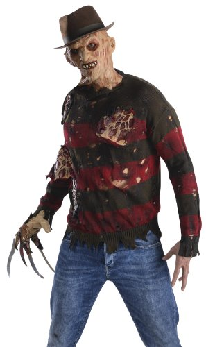 Rubie's Costume Men's Nightmare On Elm St Adult Sweater with Burning Latex Flesh