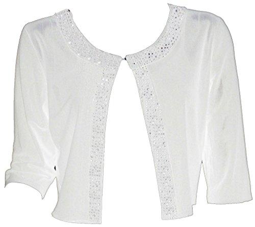 Alivila.Y Fashion Women Boutique Beaded Mesh Shrug Bolero 108