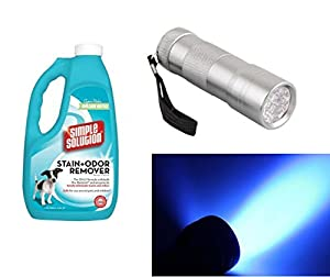 Bramton Convenient Stain, Odor Remover and LED UV Urine Detector for Pets