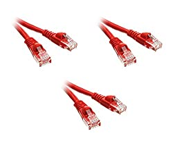 C E Cat5e 6-Inch Ethernet Patch Cable Snagless Molded Boot 20-Pack Red CNE51007 5 Feet