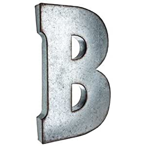 amazoncom large galvanized metal letter b With large metal letter b