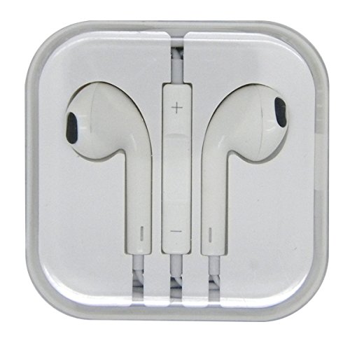 White Color Stereo Bass Headphone Mic Volume Control Remote Earphone Earpods Headset For Iphone 4 4S 5 5S Ipad 2 3 4