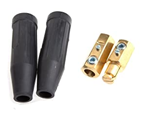 Forney 57715 Cable Connector, Camlock Type, Number 1/O Through Number 4/O Cable, 1-Pair