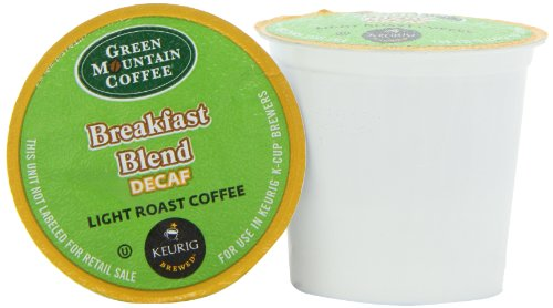 Green Mountain Coffee Decaf Breakfast Blend (Light Roast Coffee), K-Cup Portion Pack for Keurig K-Cup Brewers (Pack of 24)