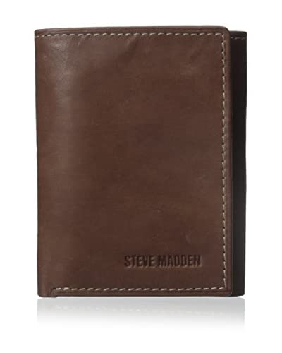 Steve Madden Two-Tone Trifold Wallet Brown