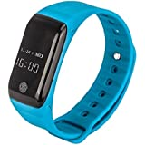 OPTA SB-009 Blue Bluetooth Smart Band With Basic Blood Pressure, Blood Oxygen ,Heart Rate And Fitness Health Sport Bracelet Compatible With Samsung IPhone HTC Intex Vivo Mi One Plus And Many Others! Launch Offer!!