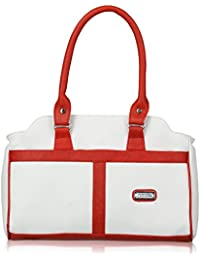 Fantosy Rani White And Red Handbag(FNB-347)