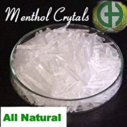 Menthol Crystals 100% Natural 4oz by Greenals
