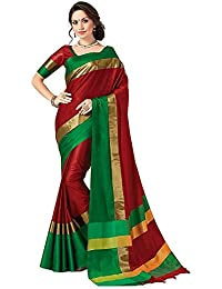 Sarees For Women Party Wear Offer Designer Sarees New Collection Today Low Price Sarees In Multi-coloured Cotton...