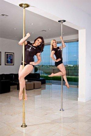 Platinum Stages Extreme Multi Piece Portable Dance Pole 45mm Chrome