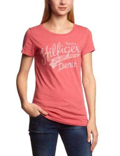 Hilfiger Denim  Women's Lala Cn Tee S/S / 1657617626 T-Shirt Pink (619 Holly Berry) 32
