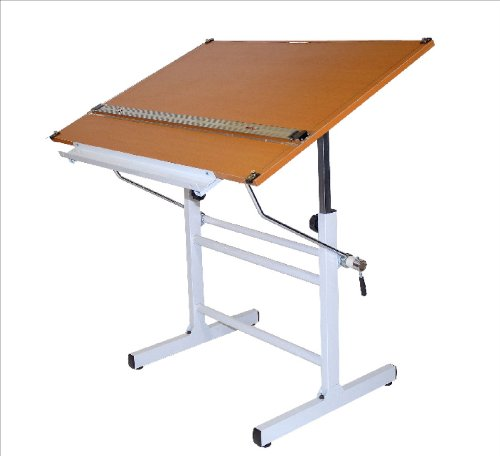 Marin Bel Aire Nuevo Drafting Table, White Base with Cherrywood Top, 30-Inch by 42-Inch Surface