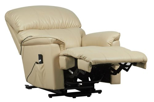 Canterbury Dual Motor Leather Electric Riser Recliner Chair With Heat And Mas