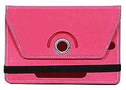 Jkobi 360 Degree Rotating Front & Back Tablet Book Flip Case Cover For Prestigio MultiPad 10.1 Ultimate 3G -Pink (Universal)