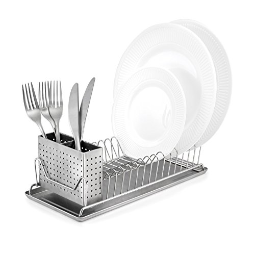 stainless steel compact dish rack utensil holder drainer sink f ship ebay. Black Bedroom Furniture Sets. Home Design Ideas