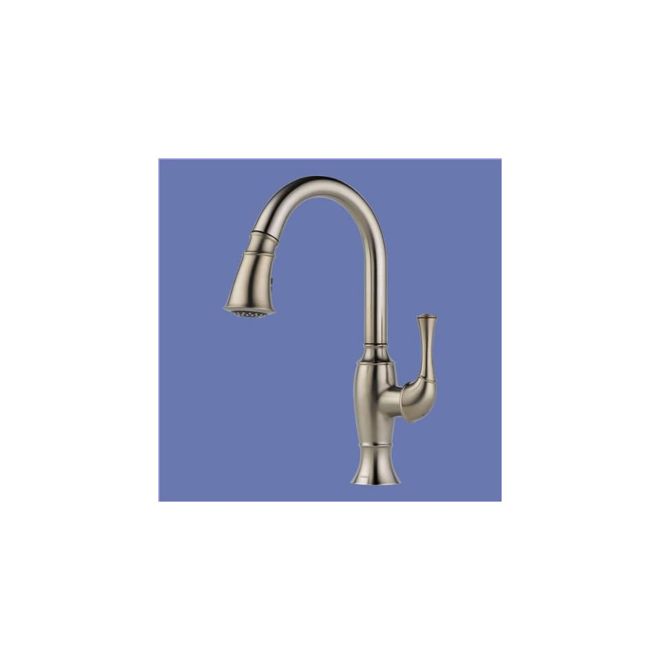 Brizo 63003LF SS Single Handle Pull Down Kitchen Faucet Stainless