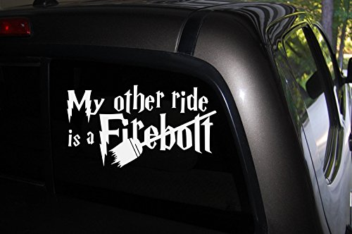 My Other Ride Is a Firebolt Decal, 7.5
