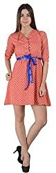 Guster Ve .. Women's Button UP Gather Dress(Coral,XL)