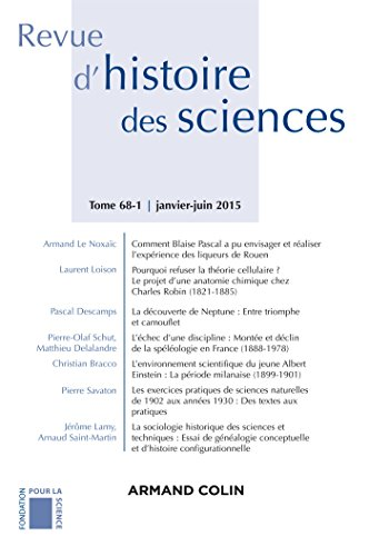 Revue d'histoire des sciences - Tome 68-1 (1/2015) Varia