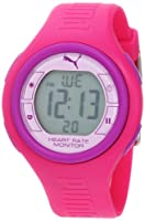 PUMA Women's PU910541012 Pulse Hot Pink and Purple Digital Heart Rate Monitor Watch from PUMA