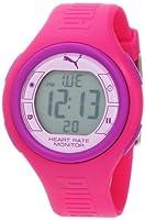 PUMA Women's PU910541012 Pulse Hot Pink and Purple Digital Heart Rate Monitor Watch from PUMA