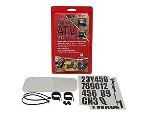Hardline Products 2340W ATV License Plate Kit, White Plastic