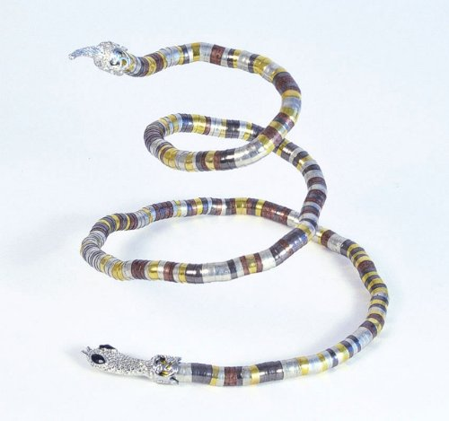 Metallic Cobra Necklace Jewellery Egyptian Fancy Dress Costume Accessory