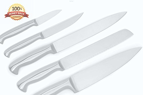 Kitchen Knives - Set of 5 Best Commercial Grade Stainless Steel