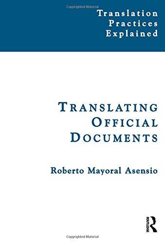 Translating Official Documents (Translation Practices Explained) PDF