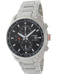 Citizen Eco-Drive Analog Black Dial Men's Watch CA0360-58E