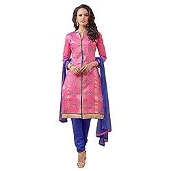 PARISHA Chanderi Silk Pink Women's Straight Suit 3ASG3005