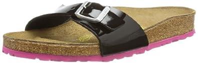 Birkenstock Womens Madrid Bflor Fashion Sandals 339241 Black Patent Sole Pink 2 UK, 35 EU, Regular