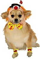 Rubies Costume Halloween Classics Collection Pet Costume, Medium, Clown Headpiece with Cuffs by Rubies Decor
