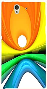 Good Looking multicolor printed protective REBEL mobile back cover for Sony Xperia Z L36h D.No.N-T-1024-S36