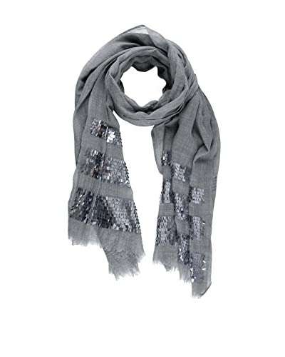 Saachi Women's Scarf with Sequins, Grey
